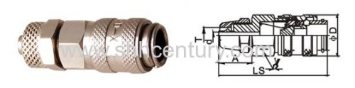 Brass QKD-X Pneumatic Quick Release Couplings Quick Disconnect Coupler Single Hand Operation