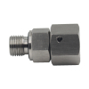 Stainless Steel 316 2BC BSP male captive seal/metric female 24 degree cone o-ring swivel adapter