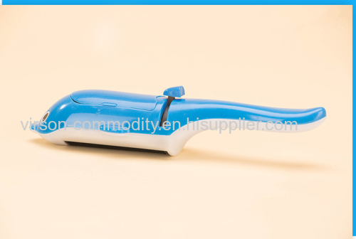 Dolphin Modelling Blue Vertical Handle Lint Roller Brush