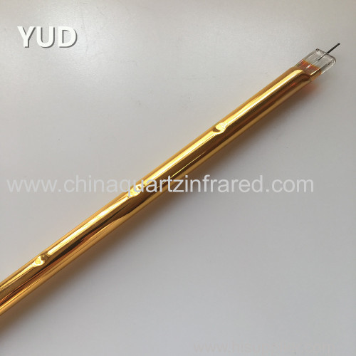Infrared Halogen Heating Quartz ShorwaveGold Coated Lamp