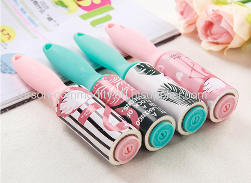 Custom design short handle sticky cleaning lint roller