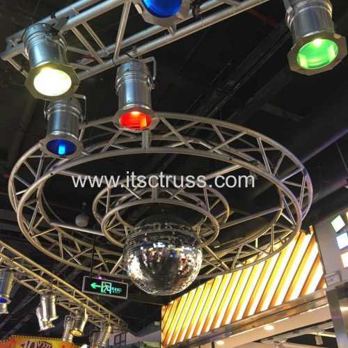 Lighting Trussing Circles Floating in Underground Shopping Mall