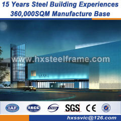 Heavy Steel Frame Fabrication pre fab metal building special size