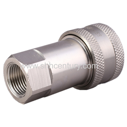 ISO7241-1-A Stainlesse Steel Hydraulic Quick Connect Coupling 1/2 BSPP Socket Female