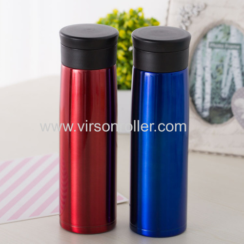 Two Colors Contracted Design Stainless Steel Vacuum Cup