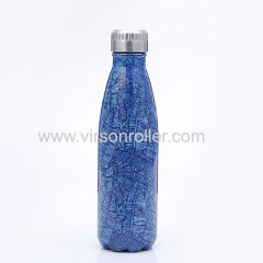 Colorful Pattern Stainless Steel Vacuum Cup Temperature Indicate Smart Water Bottle Cup