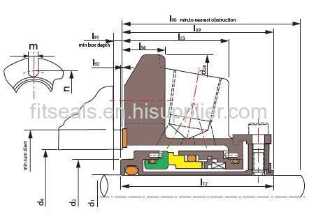 John Crane Type 5610 Single Cartridge Seal Manufacturers