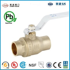 CSA UL Lead Free Forged Solder Brass Ball Valves