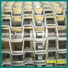 304 Stainless Steel Honeycomb Conveyor Belts Flat Wire Belt