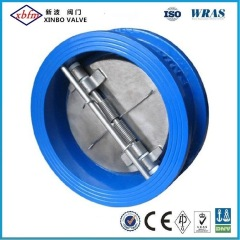 Pn16 Dn100 Ductile Iron Spring Loaded Dual Disc Wafer Check Valves