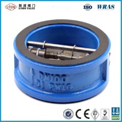 Pn16 Dn100 Ductile Iron Wafer Type Dual Disc Check Valve