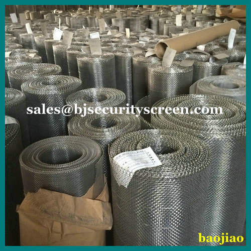 Woven 0.025'' Stainless Steel Wire Screen