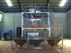 Automatic water soluble fertilizer ingredient packing solution
