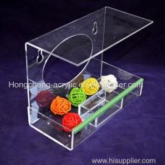 Crystal Clear Acrylic Bird Feeder Window Bird Feeder House Clear Acrylic Feed Tray