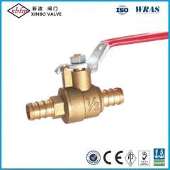 "1/2"" Brass Ball Valve Pex Connection"