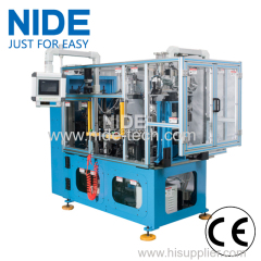High efficiency automatic four stations stator coil lacing machine