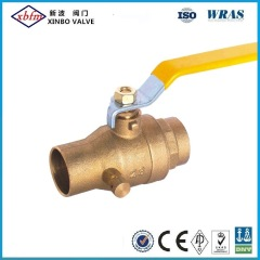 Acs Full Port Brass Ball Valve with Drain F/F