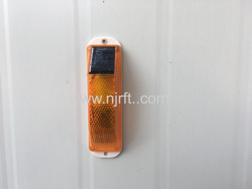 Portable led strobe traffic warning solar guardrail Lights