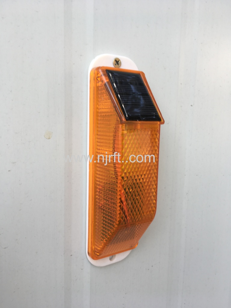 Red and yellow waterproof traffic warning lights for guardrails