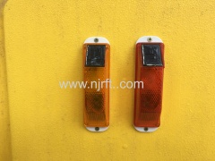 Yellow road safety safety traffic warning lights for guardrails