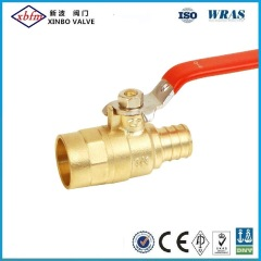 Brass Gas Ball Valve Sweat X Pex