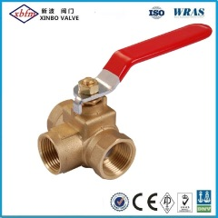 Three-Way Brass Ball Valve