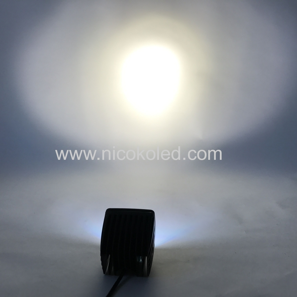 Nicoko 18w Offroad led light Led work light with Chasing RGB halo ring for 10 Solid Color Changing with Strobe Flashing