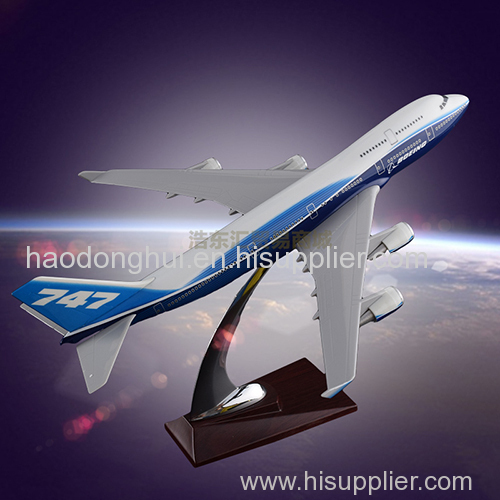 Emulational Model Plane Factory OEM Original Aircraft Model Boeing 747 1:220 Resin According to the Actual Ratio