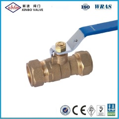 Brass Ball Valve with Compression Ring & Nut