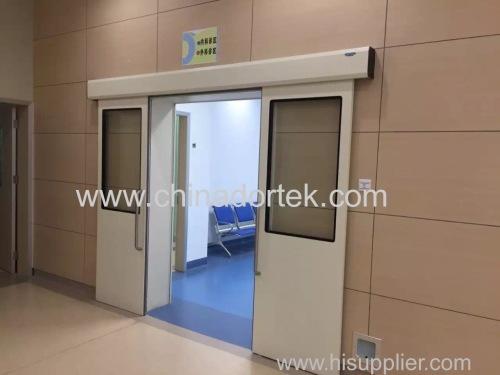 automatic bi-parting sliding doors for corridors of hospitals