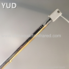 infrared halogen heating lamp with gold reflectror