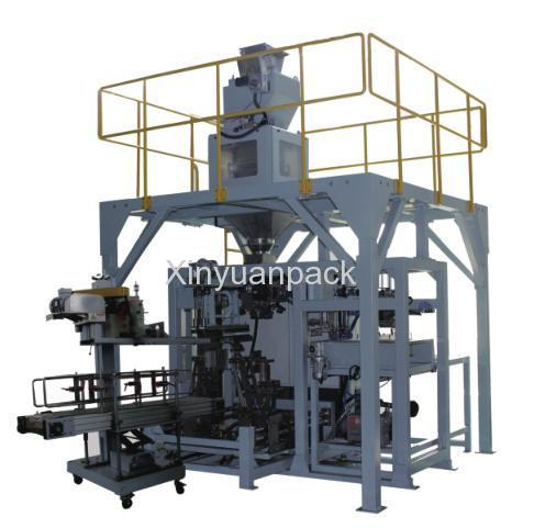 Folded bag packing machine