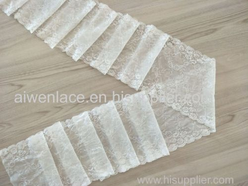 Good Quality Customized Width 18cm Elastic Lace Trim For Lady's Underwear
