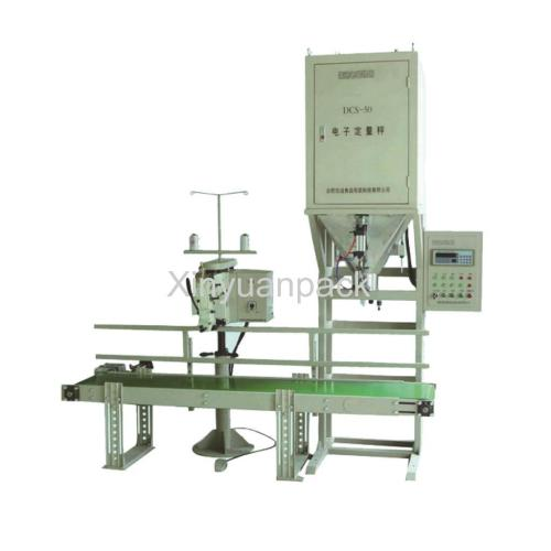 Granule packing sewing machine