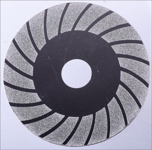 Electroplated diamond cutting grinding wheel titanium finish