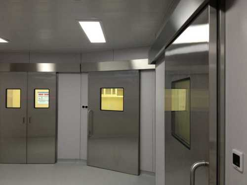 automatic sliding hermetic doors for operation rooms