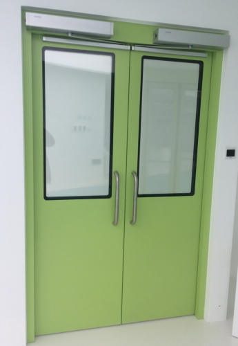 automatic hermetically sealed swing doors