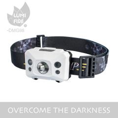Wholesale hunting camping headlight usb lighter rechargeable mining flashlight head lamp