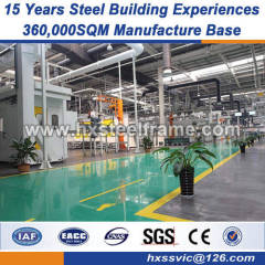 light metal fabrication lightweight steel frame convinient installation