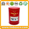 Round Chocolate Tin Box for Food Packaging Metal Chocolate Can