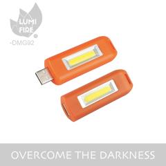 New Rechargeable USB Keychain COB Keychain Flashlight Light