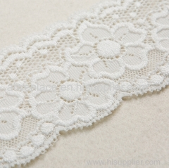 Beautiful White Lace Trim Fancy Net fabric French Lace Trim for Lady's Underwear