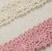 "New Design 100% Cotton 0.67"" Pink and White Lace Trim for Lady Lingerie"