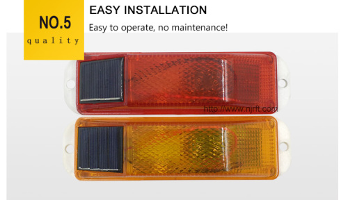 Red and yellow solar outline      Guardrail lights
