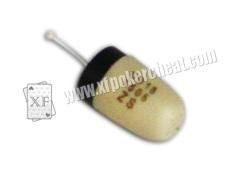 acessórios de jogo plásticos / mini fone de ouvido para o previsor do póquer do analisador