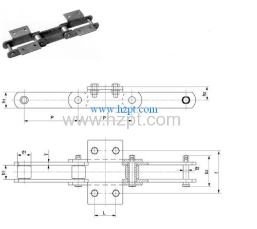 Attachment Sidebar Elevator Chain DT50 DT35 DT30D For Cement machine industry