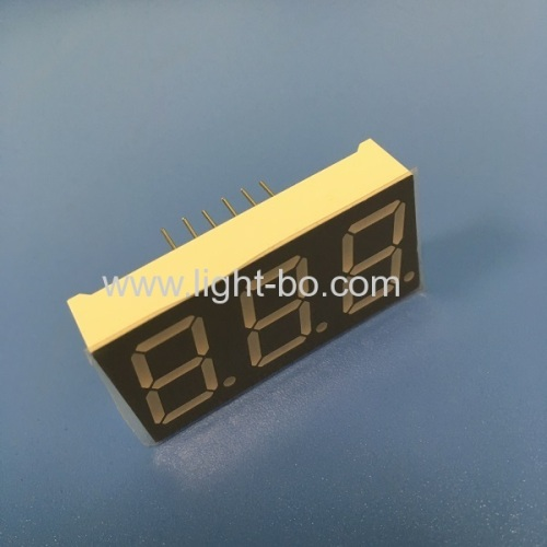 Pure Green Triple digit 0.56  common anode 7 segment led display for instrument panel