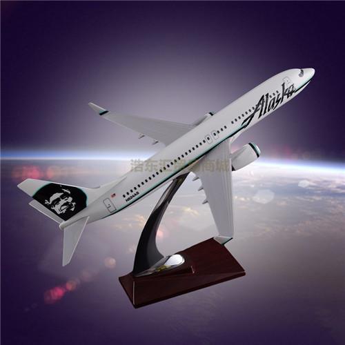 Resin Crafts Boeing 737 Alaska Airlines Simulation Airplane Model OEM Resin