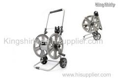 metal folding hose reel cart w/ hose guide