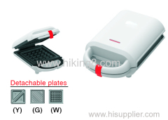 electric sandwich maker with non-sticking coating